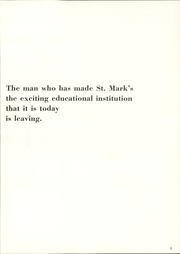 Page 7, 1969 Edition, St Marks School of Texas - Marksmen Yearbook (Dallas, TX) online yearbook collection