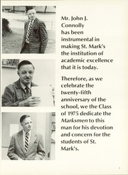 Page 11, 1975 Edition, St Marks School of Texas - Marksmen Yearbook (Dallas, TX) online yearbook collection