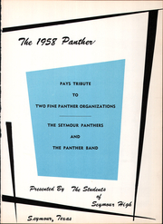 Page 5, 1958 Edition, Seymour High School - Panther Yearbook (Seymour, TX) online yearbook collection