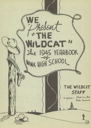 Page 5, 1945 Edition, Wink High School - Wildcat Yearbook (Wink, TX) online yearbook collection