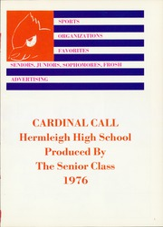 Page 5, 1976 Edition, Hermleigh High School - Cardinal Call Yearbook (Hermleigh, TX) online yearbook collection