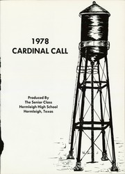Page 5, 1978 Edition, Hermleigh High School - Cardinal Call Yearbook (Hermleigh, TX) online yearbook collection
