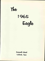 Page 5, 1965 Edition, Roosevelt High School - Eagle Yearbook (Lubbock, TX) online yearbook collection