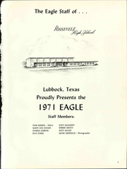 Page 5, 1971 Edition, Roosevelt High School - Eagle Yearbook (Lubbock, TX) online yearbook collection