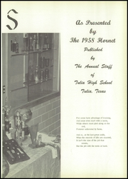 Page 7, 1958 Edition, Tulia High School - Hornet Yearbook (Tulia, TX) online yearbook collection