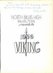 Page 5, 1956 Edition, North Dallas High School - Viking Yearbook (Dallas, TX) online yearbook collection