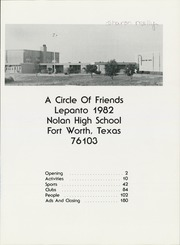 Page 5, 1982 Edition, Nolan High School - Lepanto Yearbook (Fort Worth, TX) online yearbook collection