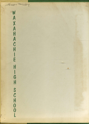 Page 2, 1956 Edition, Waxahachie High School - Chief Yearbook (Waxahachie, TX) online yearbook collection