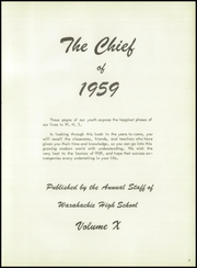 Page 7, 1959 Edition, Waxahachie High School - Chief Yearbook (Waxahachie, TX) online yearbook collection