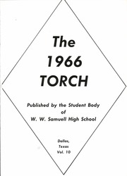 Page 5, 1966 Edition, W W Samuell High School - Torch Yearbook (Dallas, TX) online yearbook collection