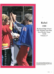 Page 5, 1988 Edition, Richland High School - Rebel Yearbook (Fort Worth, TX) online yearbook collection
