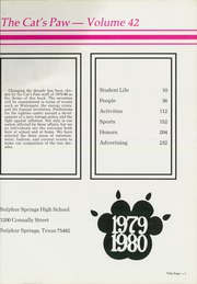 Page 5, 1980 Edition, Sulphur Springs High School - Cats Paw Yearbook (Sulphur Springs, TX) online yearbook collection