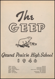 Page 7, 1946 Edition, Grand Prairie High School - Geep Yearbook (Grand Prairie, TX) online yearbook collection