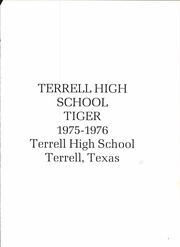 Page 5, 1976 Edition, Terrell High School - Tiger Yearbook (Terrell, TX) online yearbook collection