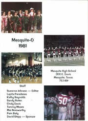 Page 5, 1981 Edition, Mesquite High School - Mesquite O Yearbook (Mesquite, TX) online yearbook collection