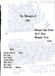 Page 5, 1982 Edition, Mesquite High School - Mesquite O Yearbook (Mesquite, TX) online yearbook collection