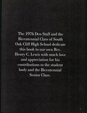 Page 7, 1976 Edition, South Oak Cliff High School - Den Yearbook (Dallas, TX) online yearbook collection