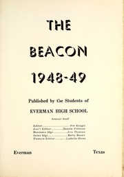 Page 7, 1949 Edition, Everman High School - Beacon Yearbook (Everman, TX) online yearbook collection