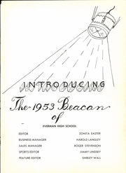 Page 7, 1953 Edition, Everman High School - Beacon Yearbook (Everman, TX) online yearbook collection