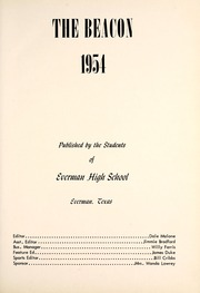 Page 7, 1954 Edition, Everman High School - Beacon Yearbook (Everman, TX) online yearbook collection