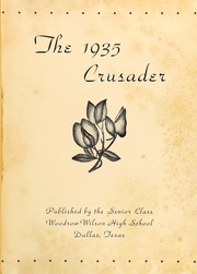 Page 5, 1935 Edition, Woodrow Wilson High School - Crusader Yearbook (Dallas, TX) online yearbook collection