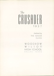 Page 7, 1937 Edition, Woodrow Wilson High School - Crusader Yearbook (Dallas, TX) online yearbook collection