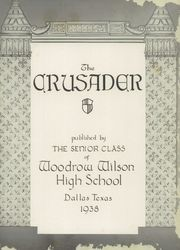 Page 7, 1939 Edition, Woodrow Wilson High School - Crusader Yearbook (Dallas, TX) online yearbook collection