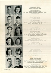 Page 42, 1945 Edition, Woodrow Wilson High School - Crusader Yearbook (Dallas, TX) online yearbook collection