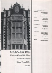 Page 5, 1983 Edition, Woodrow Wilson High School - Crusader Yearbook (Dallas, TX) online yearbook collection