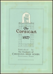 Page 9, 1927 Edition, Corsicana High School - Corsican Yearbook (Corsicana, TX) online yearbook collection