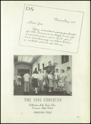 Page 5, 1945 Edition, Corsicana High School - Corsican Yearbook (Corsicana, TX) online yearbook collection