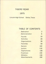 Page 5, 1975 Edition, Lincoln High School - Tiger Yearbook (Dallas, TX) online yearbook collection