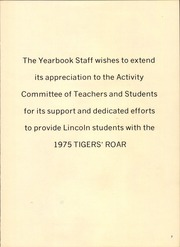 Page 7, 1975 Edition, Lincoln High School - Tiger Yearbook (Dallas, TX) online yearbook collection