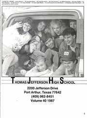 Page 5, 1987 Edition, Thomas Jefferson High School - Yellow Jacket Yearbook (Port Arthur, TX) online yearbook collection