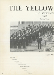 Page 6, 1967 Edition, Anderson High School - Afterthought Yearbook (Austin, TX) online yearbook collection