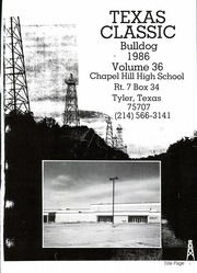 Page 5, 1986 Edition, Chapel Hill High School - Bulldog Yearbook (Tyler, TX) online yearbook collection