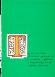 Page 5, 1982 Edition, Longview High School - Lobo Yearbook (Longview, TX) online yearbook collection