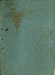 Page 1, 1921 Edition, Sherman High School - Athenian Yearbook (Sherman, TX) online yearbook collection