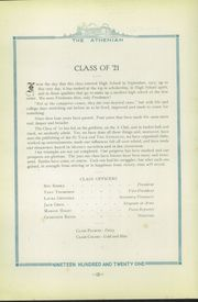 Page 16, 1921 Edition, Sherman High School - Athenian Yearbook (Sherman, TX) online yearbook collection