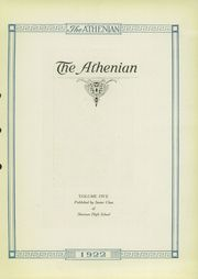 Page 3, 1922 Edition, Sherman High School - Athenian Yearbook (Sherman, TX) online yearbook collection
