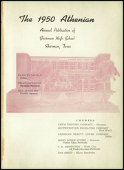 Page 5, 1950 Edition, Sherman High School - Athenian Yearbook (Sherman, TX) online yearbook collection