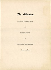 Page 7, 1951 Edition, Sherman High School - Athenian Yearbook (Sherman, TX) online yearbook collection