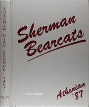 1987 Edition, Sherman High School - Athenian Yearbook (Sherman, TX)
