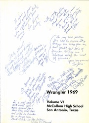 Page 5, 1969 Edition, McCollum High School - Wrangler Yearbook (San Antonio, TX) online yearbook collection