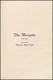 Page 5, 1919 Edition, Hillsboro High School - EL Aquila Yearbook (Hillsboro, TX) online yearbook collection