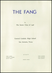 Page 5, 1948 Edition, Central Catholic High School - Fang Yearbook (San Antonio, TX) online yearbook collection