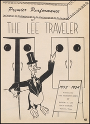 Page 7, 1954 Edition, Robert E Lee High School - Lee Traveler Yearbook (Baytown, TX) online yearbook collection