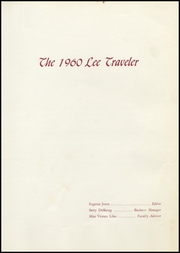 Page 7, 1960 Edition, Robert E Lee High School - Lee Traveler Yearbook (Baytown, TX) online yearbook collection