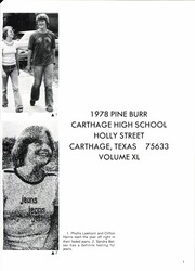 Page 5, 1978 Edition, Carthage High School - Pine Burr Yearbook (Carthage, TX) online yearbook collection