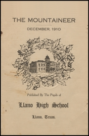 Page 5, 1910 Edition, Llano High School - Yellow Jacket Yearbook (Llano, TX) online yearbook collection